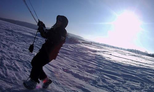 Snowkite foto