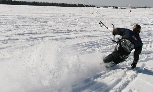 Snowkite kurzy foto